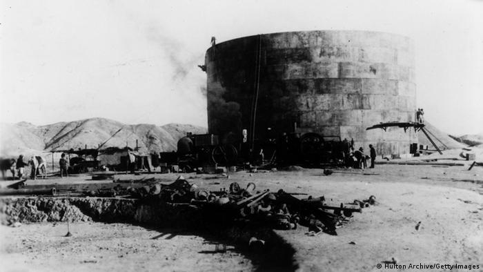 Iran Ölförderung Öltank Masjid-i-Sulaiman 1909