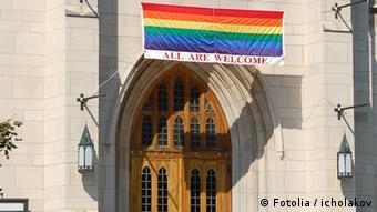 Symbol of Catholic Church and homosexuality © icholakov -