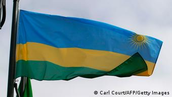 The Rwandan flag flies in the grounds of the Commonwealth Secretariat at Marlborough House, in London, on March 8, 2010, following a press conference with President of Rwanda Paul Kagame, Trinidad and Tobago Prime Minister Patrick Manning and Commonwealth Secretary-General Kamalesh Sharma. Rwanda was officially accepted in the Commonwealth last year. AFP PHOTO/Carl Court (Photo credit should read Carl Court/AFP/Getty Images)
