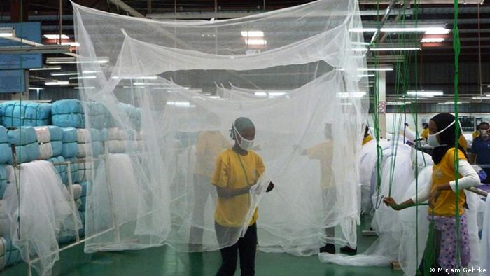 Quality control for the mosquito nets at th A to Z Textiles factory