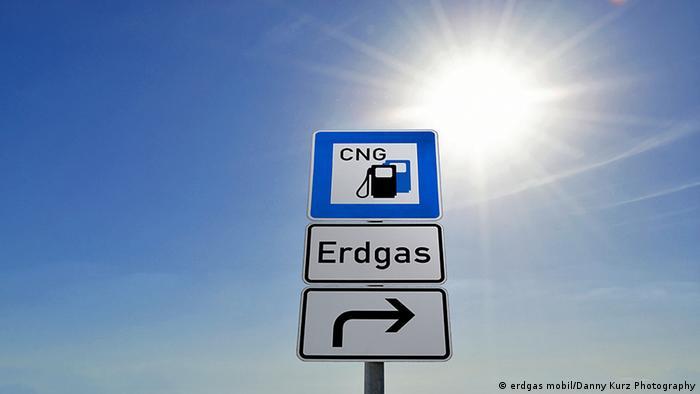 Указатель на заправку с компримированным природным газом