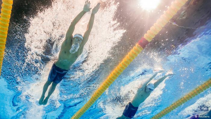 Chad le Clos: an underwater full body shot