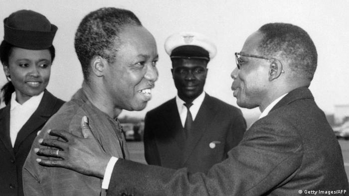 Julius Nyerere and his Senegalese counterpart Leopold Sedar Senghor in 1968