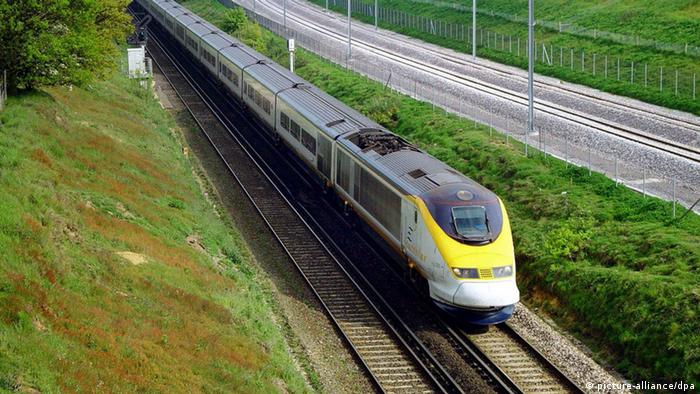 Eurostar-train in Kent, England