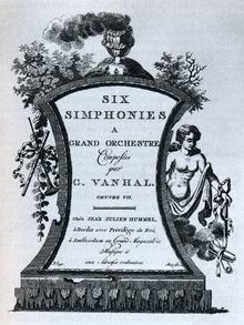 Titelblatt von Vanhals sechs Symphonien op. 7, die um 1770 im Verlag Hummel erschienen Foto: DW/New Grove Dictionary of Music
