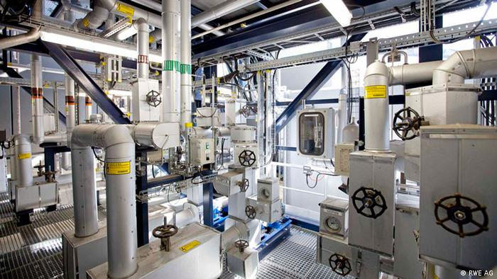 The inside of a carbon capture facility in the Netherlands