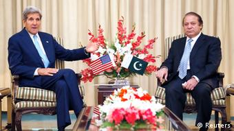 US-Außenminister Kerry mit Pakistans Premier Sharif im August .2013 (Foto: Reuters)