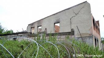 Дом, разрушенный в ходе войны в Грузии в августе 2008