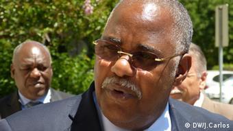 José Van-Dúnem, ministro da Saúde de Angola, no último dia da sua visita a Portugal