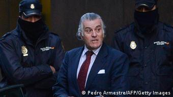 Spanien Parlament Finanzaffäre Schatzmeister Barcenas FEBRUAR 2013