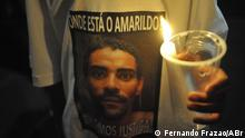 Beschreibung: Proteste in Rio de Janeiro wegen des Handwerkers Amarildo de Souza, der seit mehrere Tage von der Polizei festgenommen wurde und seitdem verschwunden ist. Datum 01.08.2013 Copyright: Fernando Frazão/ABr