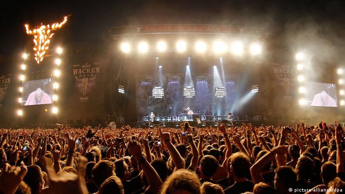 Rammstein beim Wacken Festival 01.08.2013, Foto: dpa