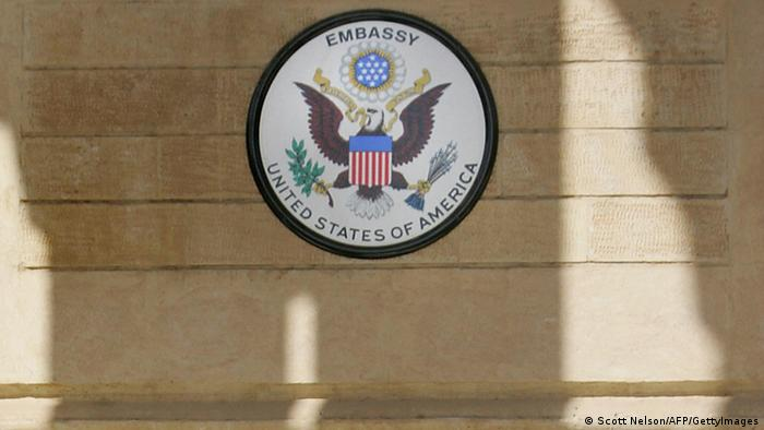 Schild der US-Botschaft in Bagdad (Foto: Getty Images)