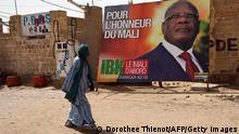 Mali Wahlen Wahlplakat in Gao