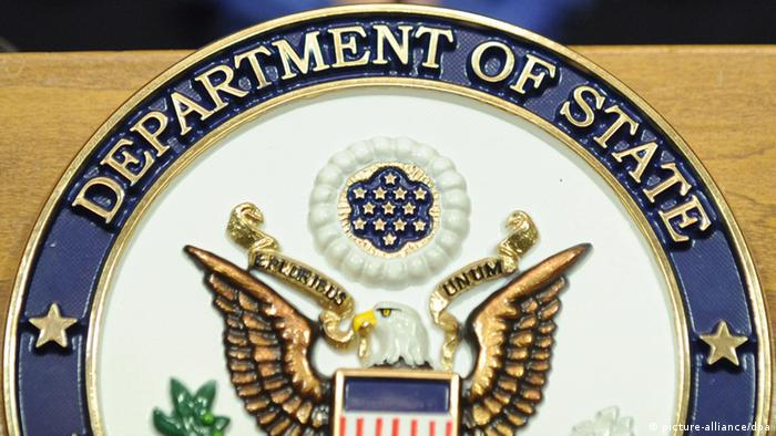 Logo USA Außenministerium State Department (picture-alliance/dpa)