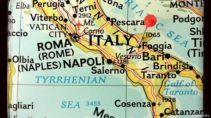 Фоджа на карті Італії
