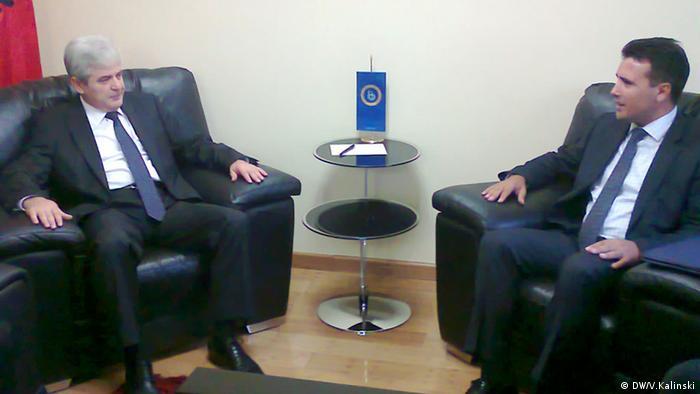 Treffen zwischen Zoran Zaev und Ali Ahmeti (DW/V.Kalinski)
