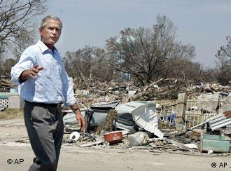 President Bush is thankful for aid from international community