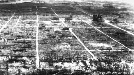Hiroshima after the atom bomb explosion. (Photo by Three Lions/Getty Images) 06 Aug 1945