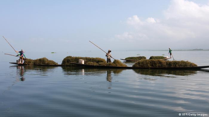 মিয়ানমারের ইনলে হ্রদে মাছ কমছে