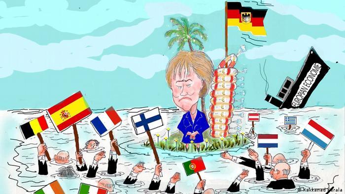 Меркель на острове думает, кому из утопающих бросить спасательный круг
