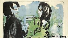 Gemälde Junges Paar Emil Nolde Expressionismus