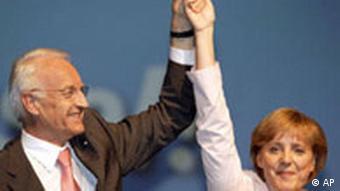 CSU Parteitag Edmund Stoiber und Angela Merkel