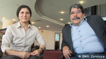 Asia Abdullah and Salih Muslim Copyright : Karlos Zurutuza, DW Mitarbeiter, Erbil, July 2013