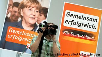 Ангела Меркель на предвыборном плакате