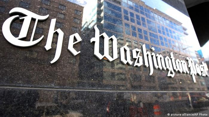 Washington Post Logo Redaktionsgebäude Washington D.C. USA (picture-alliance/AP Photo)