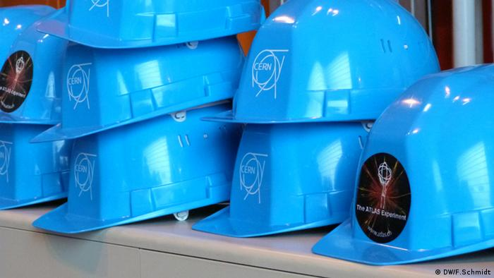 CERN: Atlas Blue helmets Photo: Fabian Schmidt