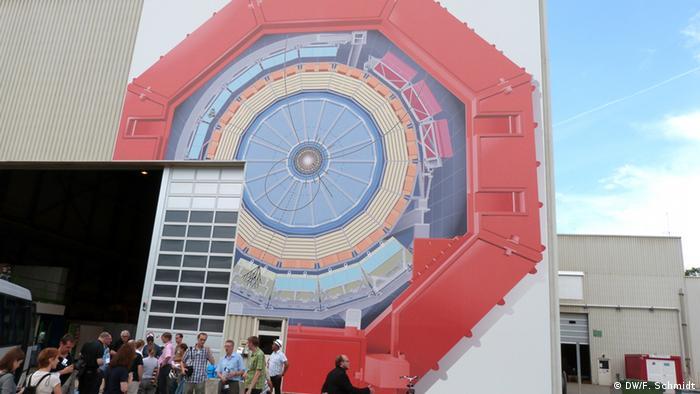 The entrance above ALICE at CERN Photo: Fabian Schmidt/ DW)