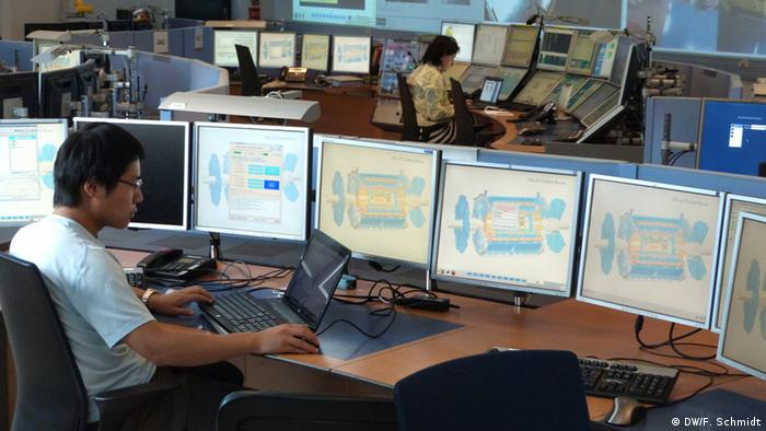 Part of the ATLAS control room at CERN Photo: Fabian Schmidt