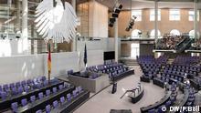 Deutscher Bundestag Innenansicht Das Bild darf erstmal nur im Rahmen der Bundestagswahl und dem Rundgang verwendet werden. Foto: Philipp Böll, Juli 2013