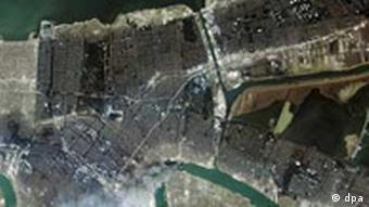 Satellite image of New Orleans