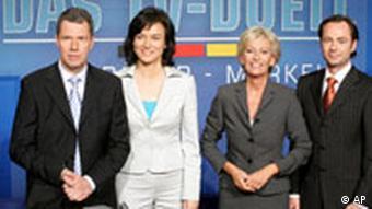 Wahl Fernsehduell Merkel - Schröder