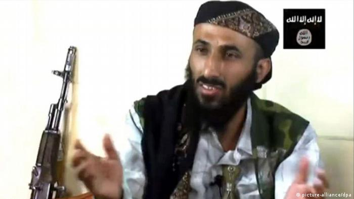 FILE - An undated handout image made available by a Jihadist website on 24 February 2010, shows the senior leader of al-Qaeda in the Arabian Peninsula (AQAP) Nasser al-Wahaishi appearing in an Islamist video posted on internet. The U.S. has become increasingly worried about militants based in Yemen since al-Qaida groups there and in Saudi Arabia merged to become al-Qaida in the Arabian Peninsula. EPA/JIHADIST WEBSITE/HANDOUT