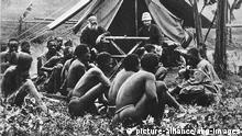 """Deutsche Missionare in der damaligen Kolonie """"Deutsch-Ostafrika"""", dem heutigen Tansania (Archivbild)."""