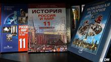 Schulbücher in einem Buchladen in Moskau, Schulbücher über Zerfall SSSR, USSR, Russland, Moskau, August 2013 Foto: DW-Korrespondent Egor Winogradov