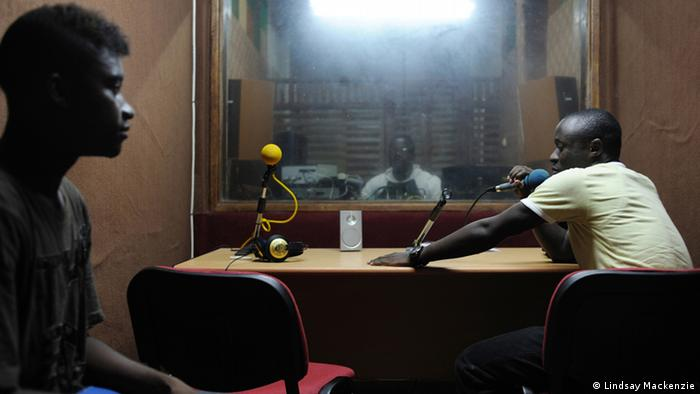 Portrait inside radio studio of Antonio Manuel and Prospero Rivas Photo: Lindsay Mackenzie