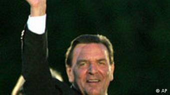 Wahl Fernsehduell Merkel - Schröder Gerhard Schröder