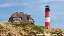 Leuchtturm Hörnum auf Sylt an der Nordsee