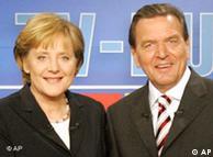Duelo televisivo entre Angela Merkel y Gerhard Schröder.