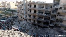 A general view shows damaged buildings caused by what activists said was shelling by forces loyal to Syrian President Bashar al-Assad in Raqqa province, eastern Syria, August 7, 2013. REUTERS/Nour Fourat (SYRIA - Tags: CONFLICT POLITICS TPX IMAGES OF THE DAY)