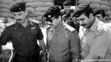 1984 - Saddam Hussein inspecting the Iraqi forces during the Iran-Iraq War