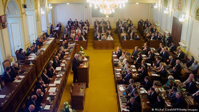 Czech parliament in Prague.