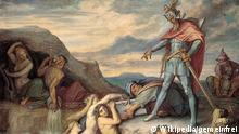 Nibelungen Sage Peter von Cornelius Hagen Nibelungenhort Kunst Gemälde Kultur Geschichte