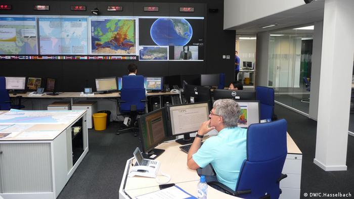 EU-Notfallabwehrzentrum in Brüssel - Foto: Christoph Hasselbach (DW)