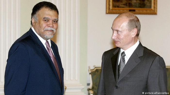 Russia's President Vladimir Putin (R) and Secretary General of Saudi Arabia's National Security Council Prince Bandar Bin Sultan meet in Moscow, 02 August 2007. EPA/ALEXANDER NATRUSKIN +++(c) dpa - Bildfunk+++