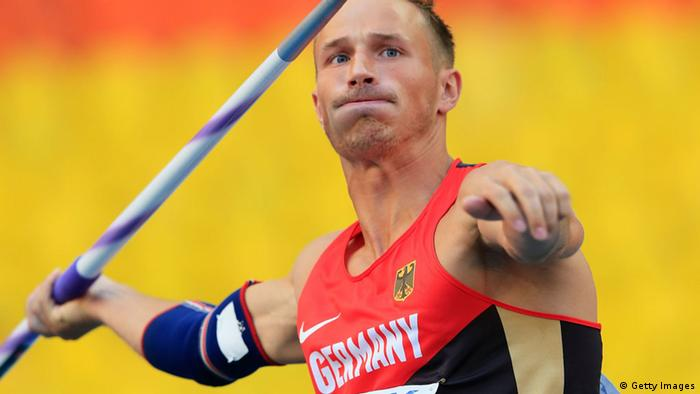 Michael Schrader of Germany competes in the Men's Decathlon Javelin during Day Two of the 14th IAAF World Athletics Championships Moscow 2013 at Luzhniki Stadium on August 11, 2013 in Moscow, Russia. (Photo by Jamie Squire/Getty Images)